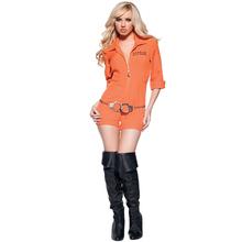 万圣节ca囚犯服装舞em性感女囚服cosplay制服诱惑