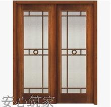 特价 室内ca 纯实木 si门 烤漆 做旧 白色 双推玻璃 欧款 美款