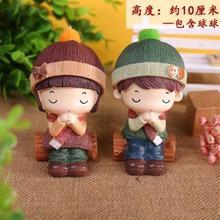 可爱新ca情侣陶瓷个si玩偶工艺品娃娃摆件大号新婚装饰(小)创意