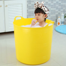 加高大ca泡澡桶沐浴em洗澡桶塑料(小)孩婴儿泡澡桶宝宝游泳澡盆