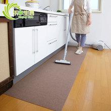日本进ca吸附式厨房en水地垫门厅脚垫客餐厅地毯宝宝爬行垫