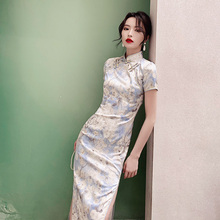 法式旗ca2020年up长式气质中国风连衣裙改良款优雅年轻式少女