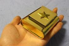 高档手ca纯铜烟丝盒up烟盒 手卷烟烟丝盒 带烟纸口烟盒五角星