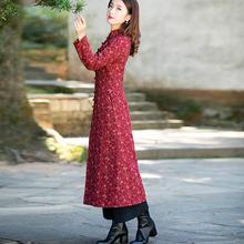 筠雅红ca过年冬式加lo式法式唐装拜年中国风女装冬装
