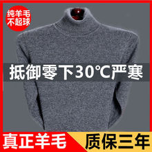 202ca新式冬季羊to年高领加厚羊绒针织毛衣男士