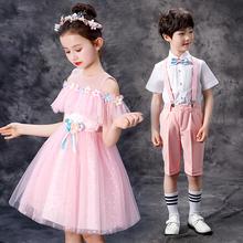 宝宝演ca合唱服舞蹈to蓬蓬裙六一表演服(小)学生男童主持的礼服