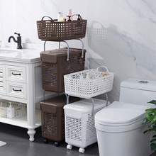 日本脏ca篮洗衣篮脏bi纳筐家用放衣物的篮子脏衣篓浴室装衣娄