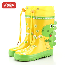 户外游ca男童女童卡de恐龙兔子防滑高筒宝宝水鞋雨靴