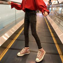女童裤子儿童牛仔裤春装外穿2021新ca15洋气大de秋款打底裤