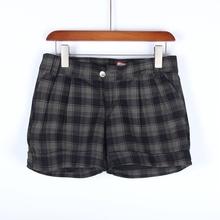 【多】ca场撤柜品牌es装新式春秋条纹格子短裤休闲裤1Q017