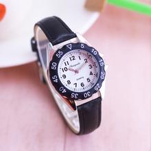 简约可ca清晰数字男es手表(小)学女生石英电子防水认识时间腕表