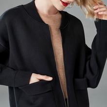 女春秋ca2020新te韩款短式开衫夹克棒球服薄上衣长袖(小)外套冬