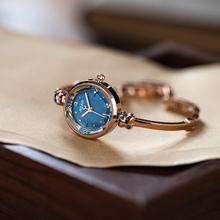 聚利时caULIUSil属带女表水钻女士表切割面设计OL时尚潮流手表