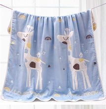 初生婴ca浴巾夏独花sp毛巾被子纯棉纱布四季新生宝宝宝宝盖毯