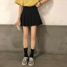 橘子酱yo百褶裙短裙高腰a字少女学院风防ca17光显瘦te身裙
