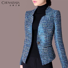 (小)西装ca短式秋冬新vi20春韩款修身职业大码女装短外套C15