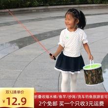 特价折叠钓鱼打水桶(小)钓箱ca9活鱼桶渔ad一体加厚便携鱼护包