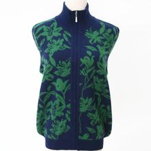 秋冬新式中老年女装羊绒衫加厚ca11链开衫ad针织衫毛衣外套