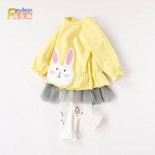 清仓 ca-4岁公主ad装女婴儿衣服可爱春秋薄式春夏装