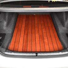 理想ocae木脚垫理ade六座专用汽车柚木实木地板改装专用全包围