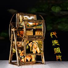 6寸摩ca轮相框7寸ar童摆台diy照片定制连体相架组合5寸相片框