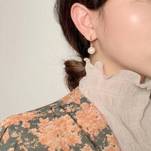 时尚珍ca耳钉女七彩ad环耳坠首饰品配饰简约纯银耳针耳饰气质