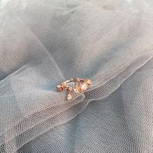 insca开口可调节ad石戒指女潮时尚个性网红食指指环(小)指子
