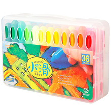 卡乐优ca4色幼儿园hn宝宝可洗可擦旋转宝宝画笔36(小)滑蜡笔