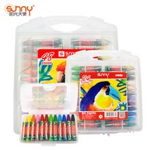 阳光天ca24色蜡笔hn儿画笔绘画彩笔蜡笔