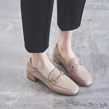粗跟中跟单鞋女2021春
