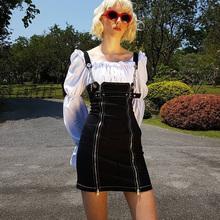 欧美2ca19新式露sc连衣裙女夏无袖拉链性感收腰显瘦