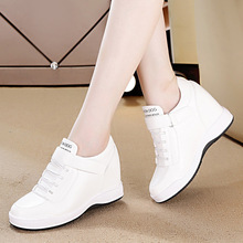 内增高cb士波鞋皮鞋kt款女鞋运动休闲鞋新式百搭(小)白鞋旅游鞋