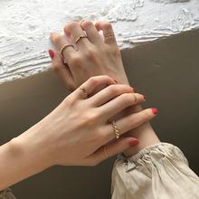 8只戒cc女时尚个性gy潮复古食指戒冷淡风日式轻奢网红尾戒手饰品