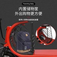 亲子电cd滑板车折叠br迷你(小)型电动车女士接带娃代步电瓶车轻