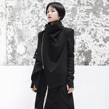 SIMPLE BLACK 春cd11新式暗kh性帅气女士短夹克外套