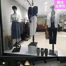 新品男cd架店铺玻璃wj子全身立体房展览实木高档女套装子秀禾