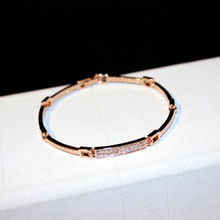 松本公cd2020式wy18K金奥地利水晶钻首饰品手镯手链礼物