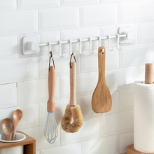 厨房挂ce挂钩挂杆免ad物架壁挂式筷子勺子铲子锅铲厨具收纳架