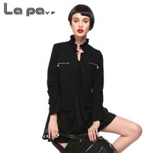 纳帕佳ceP时尚修身cu雅秋装女式两件套雪纺荷叶领上衣外套