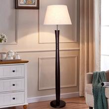 现代中式落地灯 客厅卧室家用酒ce12客房大eb 木质LED灯具