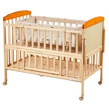 (小)龙哈ce婴儿床实木th床可移动新生宝宝摇篮床LMY289