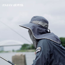 战术鸟ce全遮脸)钓ng帽子 夏季垂钓脖子遮阳渔夫帽户外男女
