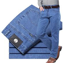 纯棉 ce士牛仔裤秋la式中年宽松中腰直筒苹果中老年 柔软舒适