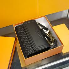 女包2ce19年新式la牌奢侈品真皮(小)方包链条斜挎包