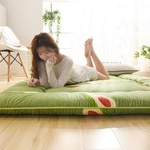 日式加ce打地铺神器ll榻米地垫可折叠睡垫懒的卧室床垫床褥子