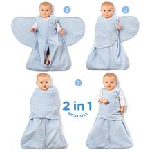 H式婴ce包裹式睡袋ll棉新生儿防惊跳襁褓睡袋宝宝包巾防踢被