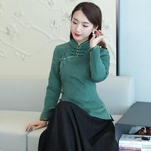 唐装女cg装加厚中国nh棉袄加棉旗袍上衣年轻式茶服民族风女装
