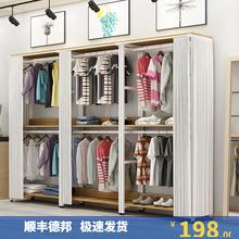 家用落cg置物架可移nh能衣架衣帽间储物衣柜防尘挂衣架