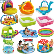 包邮送ch送球 正品amEX�I婴儿充气游泳池戏水池浴盆沙池海洋球池