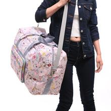 大容量ch叠旅行袋女am便防水旅游收纳行李包手提单肩包待产包